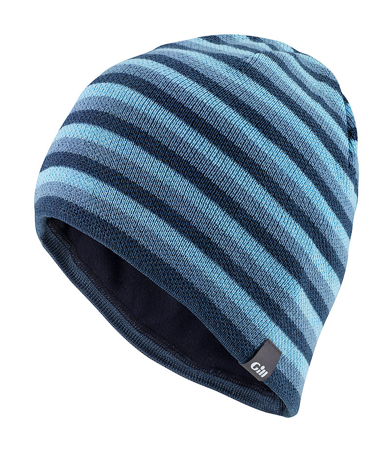 Gill HT18 Stripey Knit Beanie Blue