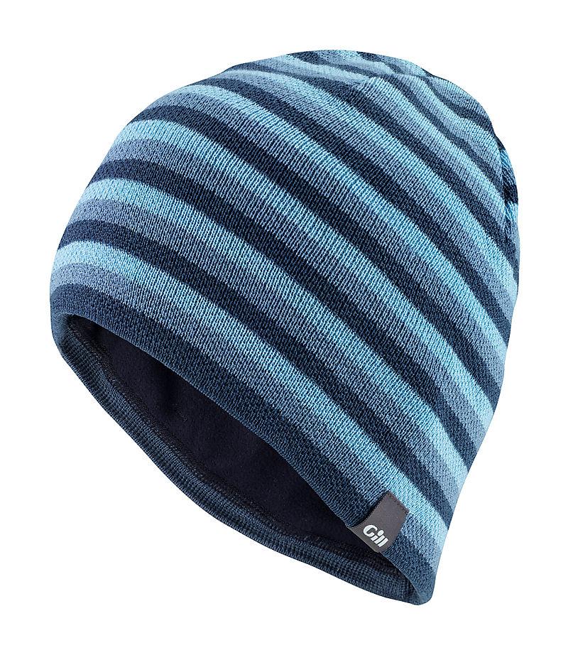 Gill HT18 Stripey Knit Beanie Blue