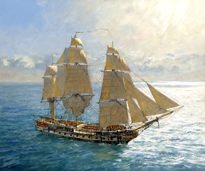 traditional boats tall ships magazine the marine art of geoff hunt