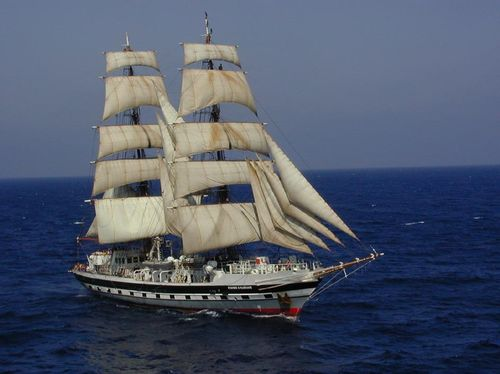 Experience the Balearics from the deck of a tall ship.